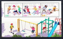 2016 New Zealand Children's Health Miniature Sheet Of 3 MNH @ Below Face Value - Nuovi