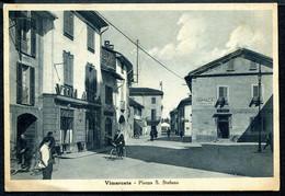 CV3753 VIMERCATE (Monza MB) Piazza S. Stefano, Con Bella Animazione, FG, Viaggiata 1943 Per Pavia, Ottime Condizioni - Monza