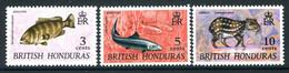 British Honduras 1972 Wildlife - Wmk. Upright - Set HM (SG 338-340) - Honduras Britannico (...-1970)