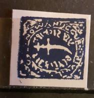 INDIA NAWANAGAR/NOWANUGGUR 1877 STAMP DOCRA INDIGO BLUE IMPERFORED NO GUM - Nowanuggur