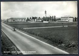 CV3750 BALSAMO (Milano MI) Veduta Panoramica Di Balsamo E Autostrada, FG, Viaggiata 1950 Per Cuneo, Buone Condizioni - Cinisello Balsamo