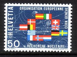SCHWEIZ MI-NR. 835 POSTFRISCH(MINT) MITLÄUFER 1966 KERNFORSCHUNGSINSTITUT CERN - Europäischer Gedanke