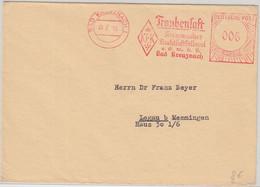 BRD - Kreuznacher Fruchtsaftkellerei 6 Pfg. AFS Drucksache Bad Kreuznach 1950 - Food