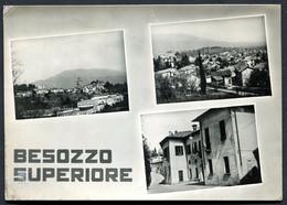 CV3742 BESOZZO SUPERIORE (Varese VA) Cartolina Con Tre Vedutine, FG, Viaggiata 1955 Per Milano,  Pieghina Angolo Sinistr - Varese