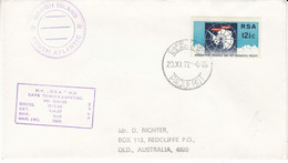 South Africa Gough Island 1972 Antarctic Treaty Ca  20/XI/72 Cape Town Paquebot (52800) - Antarctic Treaty