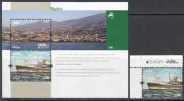 2012 Madeira Visite Tourism Ships Europa Harbour  Complete Set Of 1 + Souvenir Sheet MNH @ BELOW FACE VALUE - Madeira