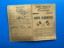 89é Cie 9 .G.19é Division  WW2 16 Mai 1945 Adjudant Gout Carte D'identité Etat Français-☛Armée Française Sous Officiers - Documents