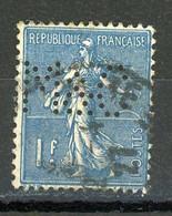 "FRANCE - TYPE SEMEUSE - N° Yvert 201 Obli PERFORÉ ""M&C"" - Gezähnt (Perforiert/Gezähnt)"