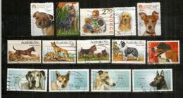 CHIENS/ PERROS / DOGS  Pays Divers -  Norvège,Suisse,Australie,Chine. Beau Lot De 14 Val.  Oblitérés 1 ère Qualité - Cani