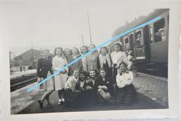 Photo SPA Train Quai 1948 Chemins De Fer Trein - Trains