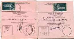 1969 2 International Postwissel - Stempel TAXE PERCUE (2talig) - Paris - Comines - Zegel Cathédrale De RODEZ - Covers & Documents