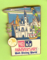Pin's Disney Château Monorail Perroquet (Double Moule) ÉL 500 - 1Y28 - Disney