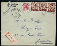 Env (Ent.)  Obl. NECHIN - B B - Du 06/02/58 En Rec. - 1953-1972 Lunettes