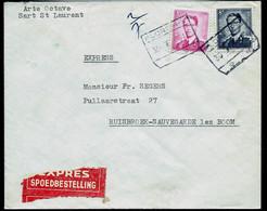 Env (Ent.)  Obl. Chemins De Fer  FLOREFFE 30/01/66 En Exprès - 1953-1972 Lunettes