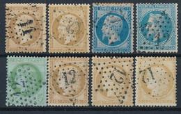EB-161: FRANCE: Lot Avec Obl étoile 11 Sur N°21  -  étoile 12 Sur N°21-22-29B-53-55(2)-59 - 1849-1876: Classic Period