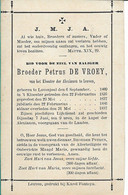 Broeder Petrus De Vroey Lovenjoul Leuven - Religion & Esotericism