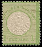 1872 DEUTSCHES REICH - 1Kr Gelblichgrun ** Mi.Nr. 23a  POSTFRISCH - TIEFSTGEPRÜFT HENNIES BPP Mi. €180 - Neufs