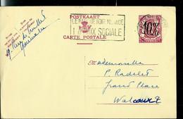 Entier CP N° 128.I.FN. CHARLEROI 28/06/46 - 1946 -10 %