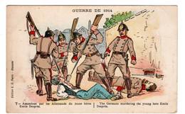 Guerre De 1914 Assassinat Par Les Allemands, Casques à Pointes, Du Jeune Héros Emile Despres - Patriotic