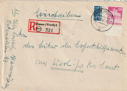 R - Brief Alliierte Besetzung Hamm 31.3.1952 - Amerikaanse, Britse-en Russische Zone