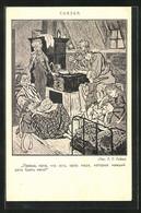Künstler-AK Simplicissimus, Sign. T. T. Heine: Arme Familie Bei Einer Mahlzeit - Altre Illustrazioni