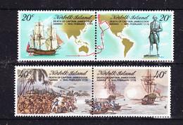Norfolk Island 1979 Capt. Cook's Voyages 2x2v ** Mnh (52809) - Isla Norfolk