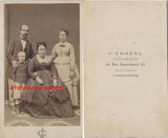 CDV Par Chazal à Constantine (Algérie)- Scène De Famille - Antiche (ante 1900)