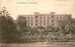 20 - Ajaccio - Le Grand Hotel - Oblitération Ronde De 1925 - Flamme Postale - CPA - Voir Scans Recto-Verso - Ajaccio