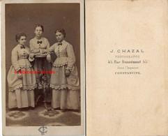 CDV Par Chazal à Constantine (Algérie)- 3 Femmes - Antiche (ante 1900)