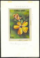 TANZANIA (1994) Thumbergia Alata. Original Artwork, Watercolor On Posterboard. Scott No 1304, Yvert No 1703. - Tanzania (1964-...)