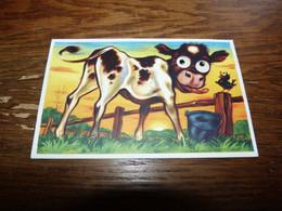 BC5-2-55 Carte Fantaisie Vache Cow      Yeux Mobiles - Non Classificati