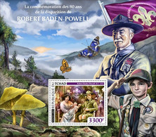 CHAD 2021 - R. Baden-Powell, Mushrooms S/S. Official Issue [TCH210126b] - Mushrooms