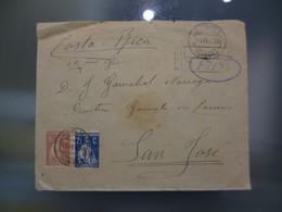 TIPO CERES - REGISTADO - DESTINO SAN JOSÉ (COSTA RICA) - Covers & Documents