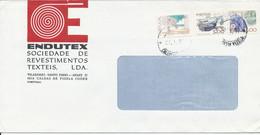 Portugal Cover Sent To Denmark Caldas De Vizela 27-3-1987 - Covers & Documents