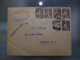 TIPO CERES - SOBRETAXADOS - PORTE DE IMPRESSO (25CTVS) A INGLATERRA - Covers & Documents