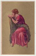 Illustrateurs  Non Signés  //   Femme à La Mode Avec Chapeau - 1900-1949