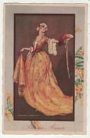 Illustrateurs  Signés  // T.Corbella //    Femme à La Mode En Grande Robe - Corbella, T.