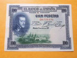 ESPAGNE 100 PESETAS 1 DE JULIO DE 1925 SERIE D - 100 Pesetas