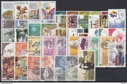 ESPAÑA 1986 Nº 2825/2873 AÑO NUEVO COMPLETO,47 SELLOS,1 HB, 4 CARNETS - Full Years