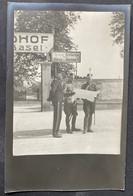 Basel Evt. Am Bleicheweg Militärgruppe/ Alte Fotokarte - BS Bâle-Ville