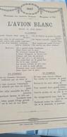 AVIATION /L AVION BLANC /NUNGESSER COLI /JULES AUBERT - Partitions Musicales Anciennes
