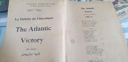 AVIATION /LA VICTOIRE DE L ATLANTIQUE .THE ATLANTIC VICTORY  MONTAGNON - Partitions Musicales Anciennes