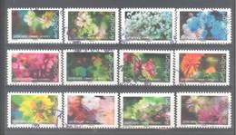 France Autoadhésifs Oblitérés N°1707 à 1718 (Flore - éclosion) (Cachet Rond - Liquidation De Stock) - Used Stamps