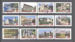 France Autoadhésifs Oblitérés N°1765 à 1776 (Ensemble, Sauvons Notre Patrimoine) (Cachet Rond - Liquidation De Stock) - Used Stamps