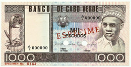 CAPE VERDE - 1000 ESCUDOS - 20.01.1977 - Pick 56.s1 - Unc. - ESPÉCIME In RED - 1.000 - Cape Verde