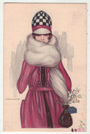 Illustrateurs  Signés // Nanni //    Femme à La Mode Avec Chapeau - Nanni
