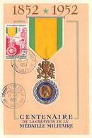 FRANCE.Carte Maximum.AM13790.15/05/1953.Cachet Nvelle Calédonie.Centenaire De La Création De La Médaille Militaire - 1950-59