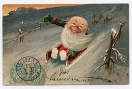 Lutins, Gnomes, Nains. Sport De Neige. Descente En Luge. - 1900-1949