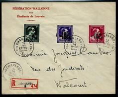 Env. (Ent.) Obl. CHARLEROI - 2 C - Du 14/06/1946 En Rec. - 1946 -10 %