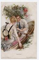 Couple Romantique En Barque. Style Meunier Suzanne Charme ,glamour. - 1900-1949